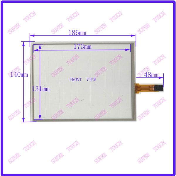 ФОТО POST 8.4 inch 4-wire resistive Touch Panel   186*140   compatible Navigator TOUCH SCREEN  for  G084SN05 LCD  display
