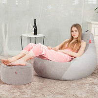 15% 2018 NEW Bedroom Bean Bag Sofas with footstool Modern Style relax lazy chair sofa bed size 90*110cm