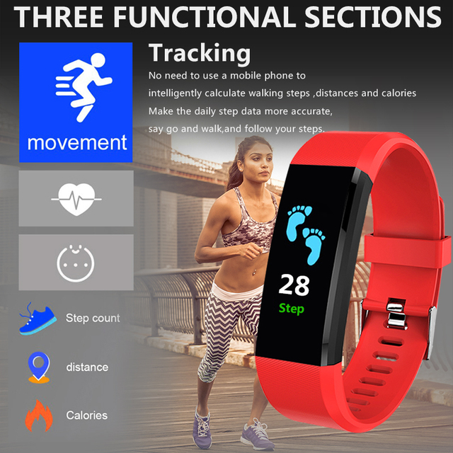New Heart Rate Monitor Blood Pressure Fitness Tracker Smartwatch for ios android 2