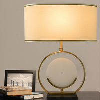 led e27 Nordic Iron Fabric Jade LED Lamp. LED Light. Table Lamp. Desk Lamp.LED Dest Lamp For Bedroom Foyer