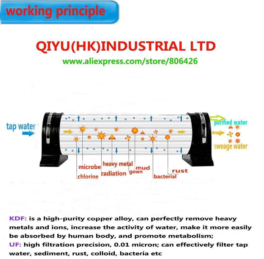 304 фильтр для воды из нержавеющей стали PVDF очиститель с ультрафильтрацией, 500л/час, коммерческий домашний кухонный напиток прямые УФ фильтры