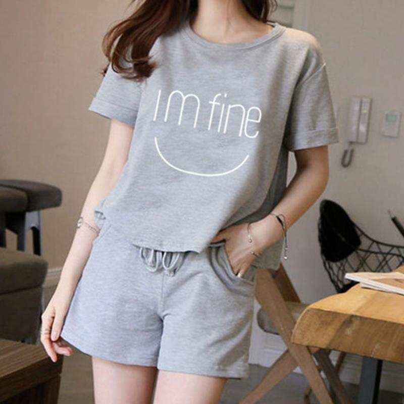 Favolook Cotton Pullover Shorts Casual Suit Women