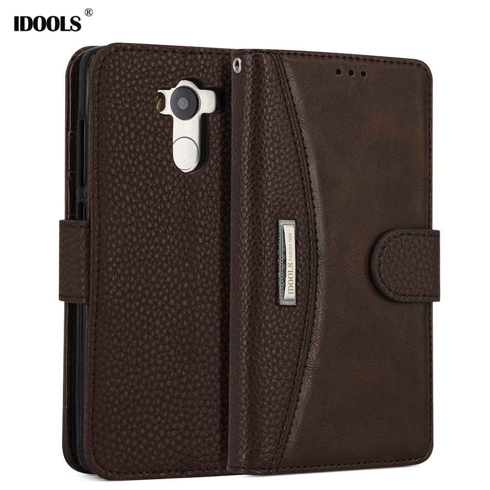 IDOOLS Case for Xiaomi Redmi 6 6A Note 4 Pro 5 Plus Luxury PU Leather Mobile