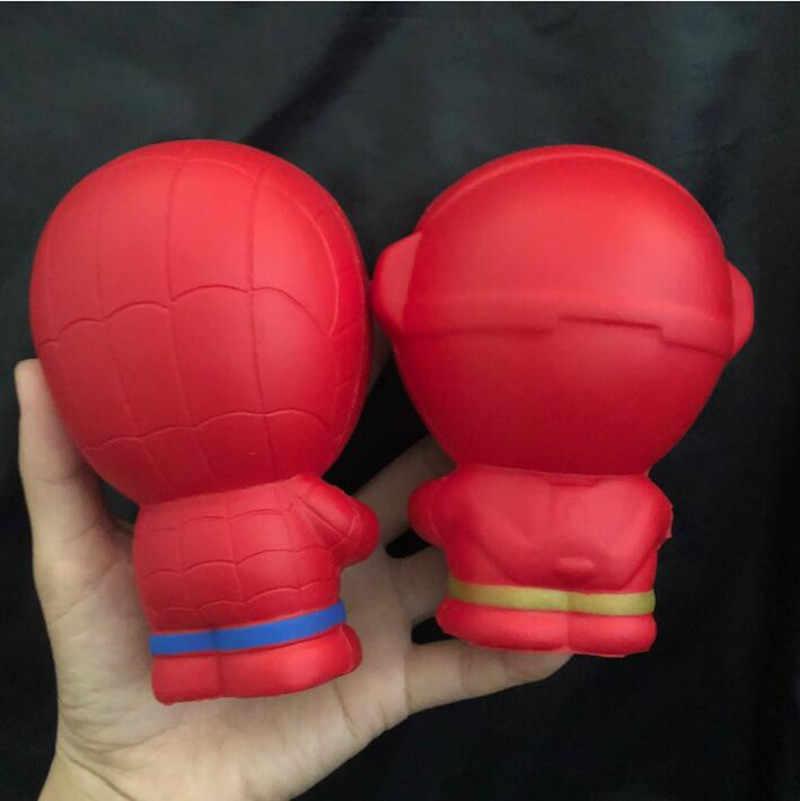 Супер герой мягкими замедлить рост Железный человек паук Squishies игрушка Jumbo Squeeze снятие стресса игрушечные лошадки для малыша