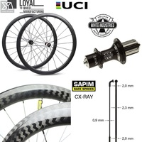 High-End 700c Road Bike Wheelset Carbon Bicycle Wheel With White Industries T11 J Bend Hub Sapim CX Ray Spokes