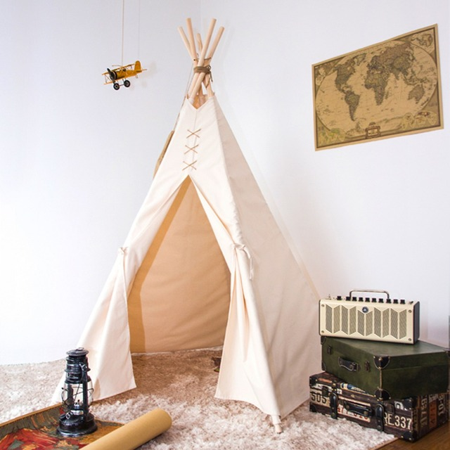 pure white f poles kids play tent indian teepee & Aliexpress.com : Buy pure white f poles kids play tent indian ...
