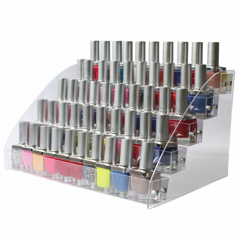 Organizer Cosmetic Rack-Display Makeup-Storage Nail-Polish Shelf Fashion Clear Multi-Layers