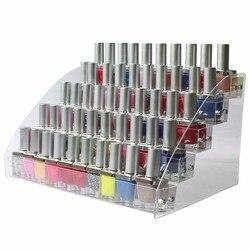Moda de armazenamento doméstico limpar multi camadas unha polonês rack exibição maquiagem organizador de armazenamento prateleira cosméticos maquiagem organizador