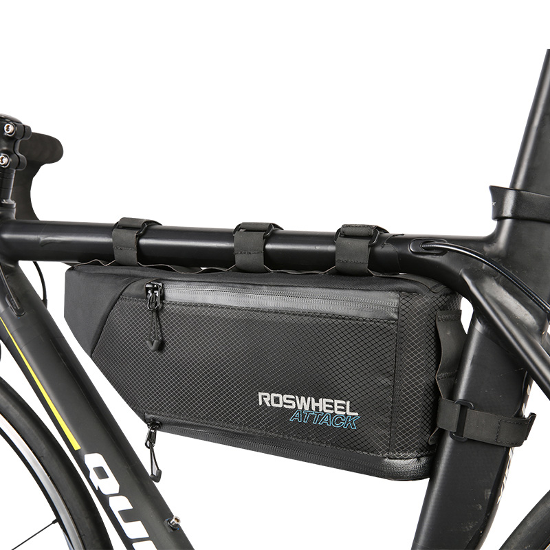 ROSWHEEL 4L 100 Waterproof Bicycle Bag Bike Accessories Front Frame Tube Triangle Bag Bycicle Cycling Bags