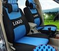2 frente tampa de assento Para NISSAN QASHQAI X-TRAIL Muran ventilar empresa logotipo Bordado Tampa de Assento Do Carro