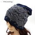 Alta Calidad Rhinestone Invierno Beanie Hat Para Mujeres de Las Señoras Del Otoño Invierno de Algodón Suave Largo Hizo Punto Slouch Beanie Sombreros Para Las Mujeres