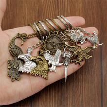 New Fashion Keychain Car Bird Animal Key Metal Pendant Bag Charm Keyring Handmade Souvenir For Gift Boyfriend