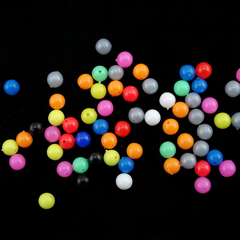100pcs Fishing Beans 6mm 8mm Round Carp Float Balls Stopper Sea Fishing Tackle Lure Accessories-in Fishing Tools from Sports & Entertainment