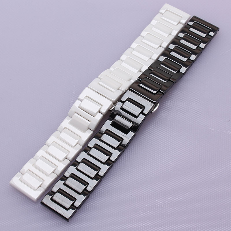 18mm 20mm Full Ceramic Watchbands for DW Daniel Wellington Watch Band Wrist Strap Replacement Link Bracelet fashion polished new 18mm 20mm silicone rubber watch band for dw daniel wellington wrist resin strap stainless stee safety buckle bracelet tools