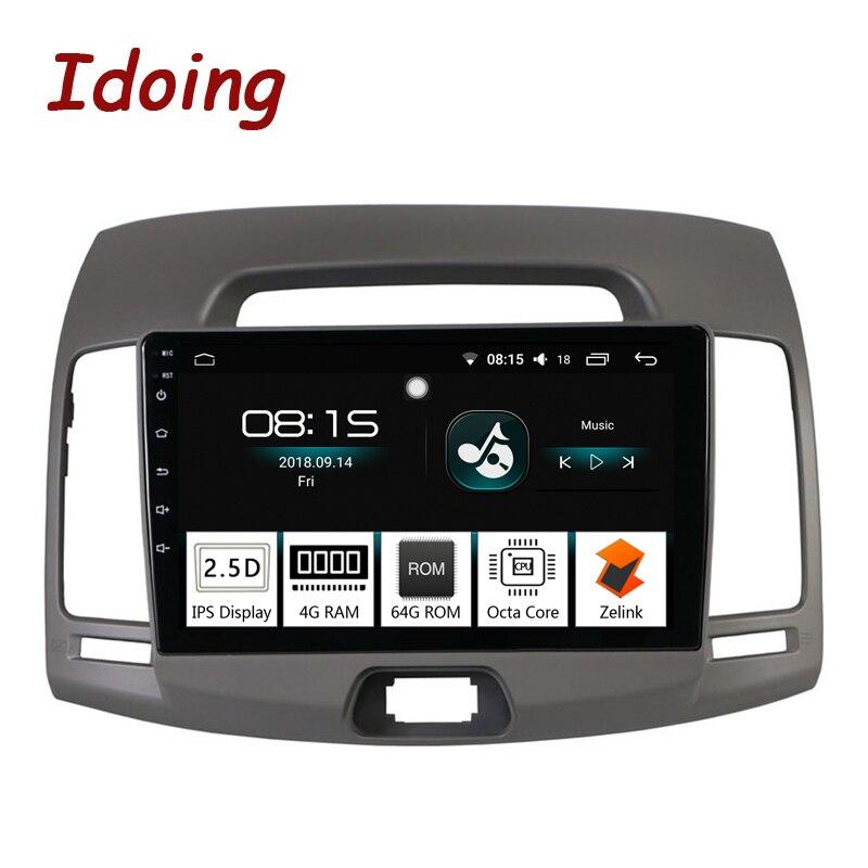 Je fais 9 1Din Voiture Android 8.0 Radio Vedio lecteur Multimédia Pour Hyundai Elantra 2010 navigation gps Et Glonass 4G + 64G Octa Core