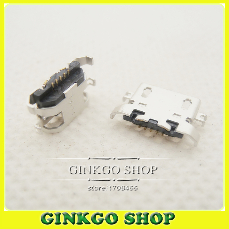 1000pcslot Micro USB Connector V8 Port Charge Sockets Jack Micro USB Jack for repairing Lenovo phone