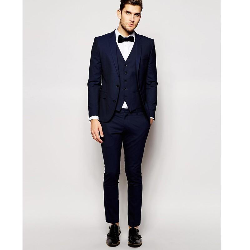Latest Design Mens Dinner Party Prom Suits Groom Tuxedos Groomsmen Wedding Blazer Suits (Jacket+Pants+Vest+Tie) K:1278