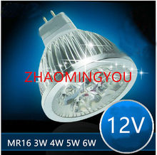 ZHAO 1 piezas de alta potencia chip LED Bombilla MR16 3 W 4 W 5 W 6 W 12 V regulable focos Led cálido/blanco fresco MR 16 base lámpara LED(China)