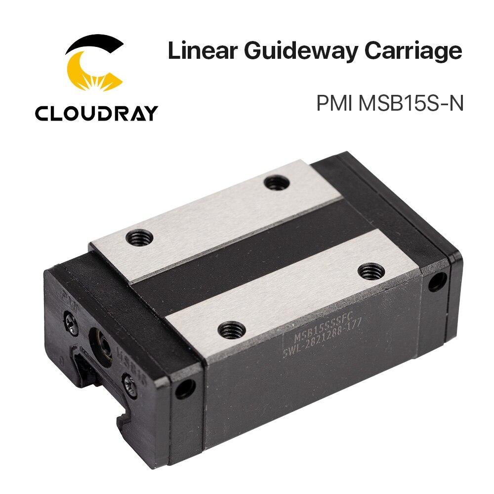 Taiwan PMI Linéaire Guidage Bloc De Transport MSB15S-N pour CO2 Laser Gravure Machine De Découpe