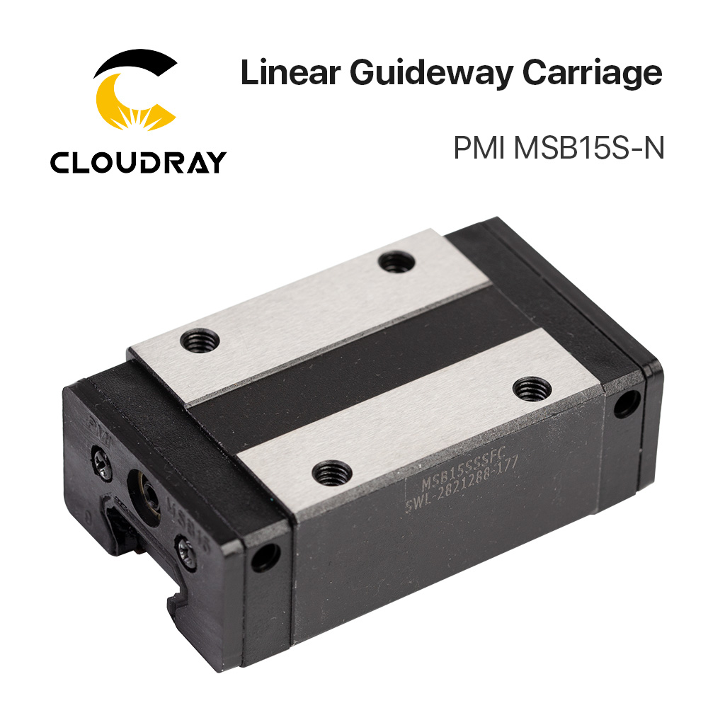 Taiwan PMI Linear Guideway Carriage Block MSB15S-N For CO2 Laser Engraving Cutting Machine