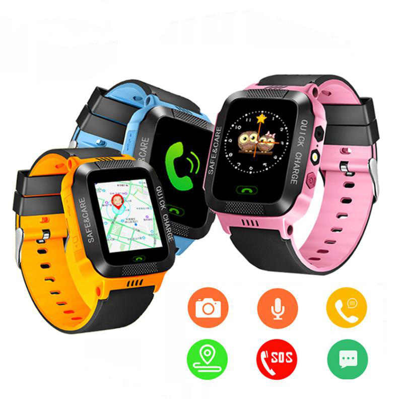 GPS tracker kids watch Camera Flashlight touch Screen SOS Call Location Baby clock kids Smart watches Q528 Y21 2G boys digital