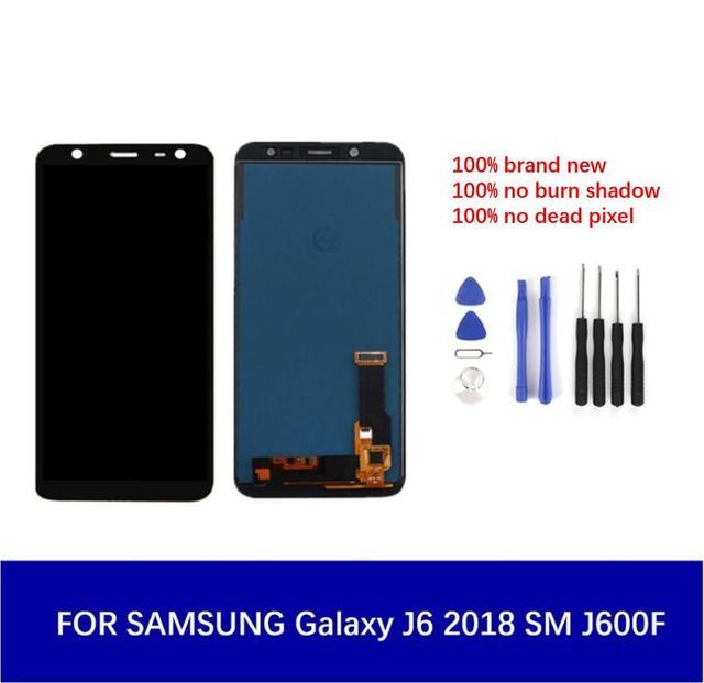 لسامسونج غالاكسي J6 2018 J600 J600F J600G J600Y شاشة الكريستال السائل شاشة مجموعة رقمنة اللمس + أدوات 5.6 المحمول شاشة TFT/Amoled