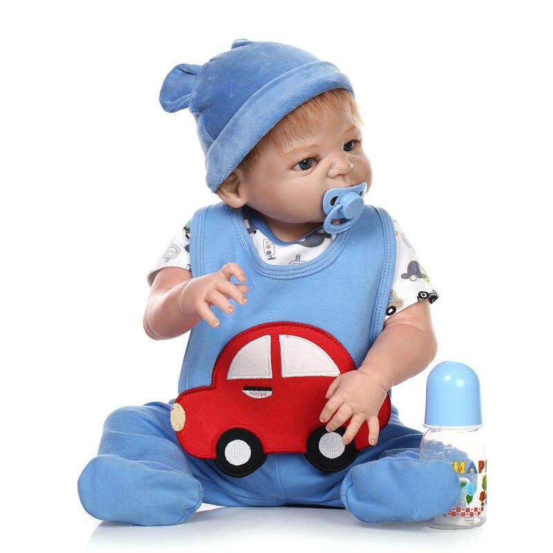 Newborn Full Silicone Body Bebe Dolls Reborn Babies Realistic