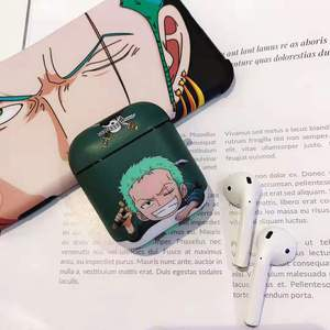 Image 4 - Japan Anime Cartoon One Piece Luffy Zoro Wireless Bluetooth Headset Hard Cover Case For Apple AirPods 1 2 Fun smile Protect Box