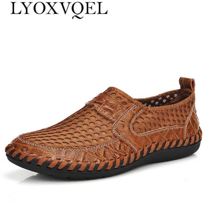 Мужская повседневная обувь; Летняя мужская обувь с дышащей сеткой; Роскошные Брендовые мужские туфли на плоской подошве; дизайнерская мужская обувь; большие размеры 49; M347