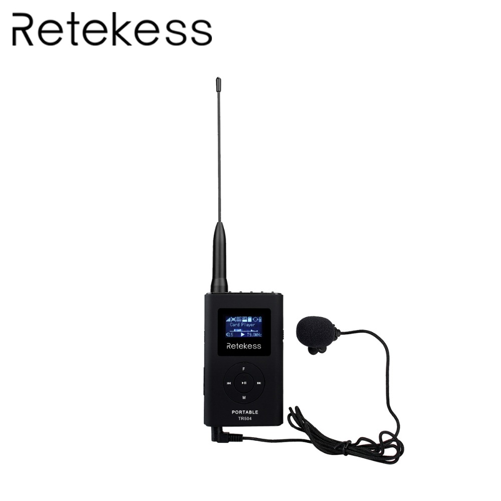RETEKESS TR504 0.3W FM Transmitter Handheld MP3 Broadcast Portable Radio For Meeting Tour Guide System Outdoor Camping