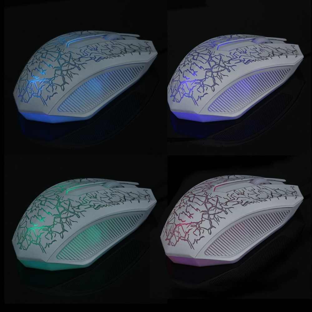 3200DPI USB przewodowa mysz gamingowa 3D LED Optical 3 przyciski Pro Gamer myszy komputerowe na pulpit pc Laptop regulowana mysz do gier