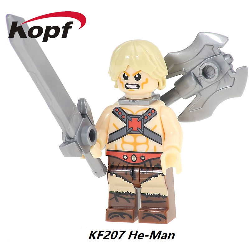 He-Man He Man Heman Skeletor Masters Of The Universe Motu Classic Blast Attack Super Heroes Building Blocks Children Toys KF207 masters of the universe