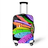 3D цветок путешествия багаж защитный чехол подходит 18-32 дюймов Женская тележка чемодан эластичный багажник чехол пылезащитный чехол