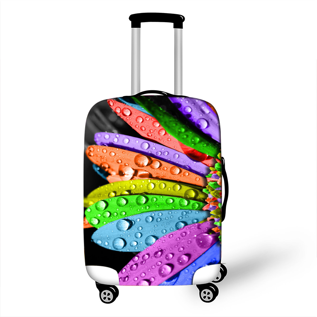 3D Flower Travel Luggage Protective Cover Suitable 18-32 Inch Womens Trolley Suitcase Elastic Trunk Case Dust Covers3D Flower Travel Luggage Protective Cover Suitable 18-32 Inch Womens Trolley Suitcase Elastic Trunk Case Dust Covers