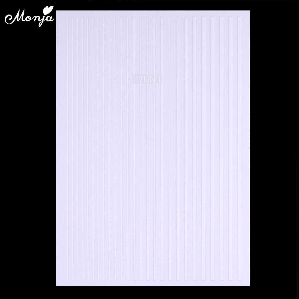 Monja, 5 цветов, хамелеон, дизайн ногтей, металл, самоклеющиеся, мульти линии, полосы, узоры, ленты, наклейки, сделай сам, декоративные наклейки для маникюра