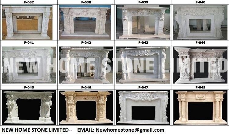 Fireplace Surround Ideas Roma Style Beige Marble Fireplace Mantel