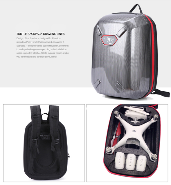 3791b76888 US $38.05 5% OFF Newest DJI Phantom 4 3 Backpack Bag Carrying Case  Hardshell Hard Shell for DJI Phantom 3 4 FPV Drone RC Quadcopter-in Drone  Bags from ...