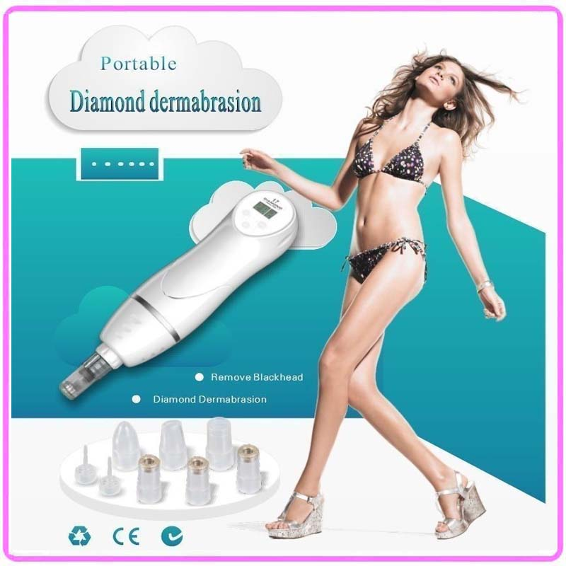 6 IN 1 Portable Diamond Crystal Dermabrasion Beauty Instruments For Home Use Pigment Acne Marks Scar Blackhead Peeling Removal professional skin diamond dermabrasion beauty machine for blackhead deadskin pigment acne marks removal lifting tightening