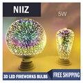 Mrdeng st64 g95 g80 g125 filamento da lâmpada e27 conduziu a luz do fogo de artifício cor decorativo 3d luz edison lâmpada