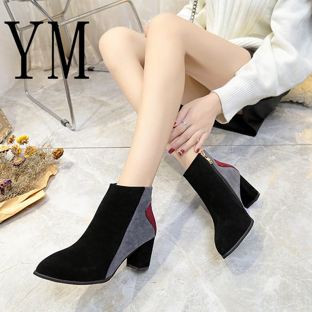 2018 Flock New High Heel Lady Casual black/Red Women Sneakers Leisure Platform Shoes Breathable Height Increasing Shoes 49
