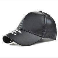 New 2017 Casual Women Baseball Caps PU Leather Hats Beauty Snapbacks Hats For Lady Girls Cool