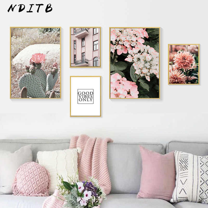 Scandinavian Flower Botanical Poster Nordic Style Wall Art Canvas Print Painting Modern Home Office Room Decoration Picture