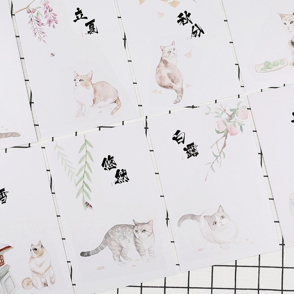 Brilliant 30 Pcs Lot Hand Drawing Pets Cats Carte Postale Greeting Card Personalised Birthday Cards Veneteletsinfo
