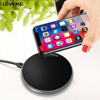 Love Mei Qi Wireless Fast Charger Pad For Samsung Galaxy S9 S9 Plus Note 8 Wireless