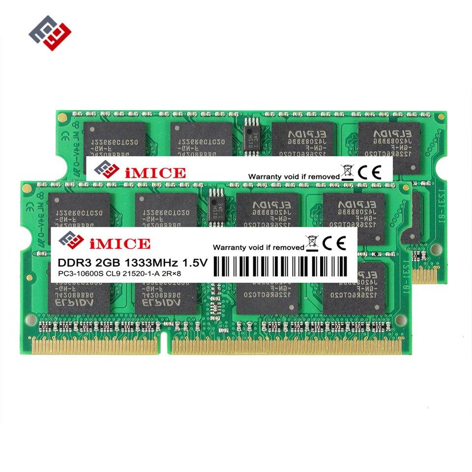 IMICE Notebook Speicher DDR3 2 GB 4 GB 1333 MHz 1600 MHz PC3-10600S 1,5 V SO-DIMM RAMs Für Laptop Memoria Ram Notebook Speicher