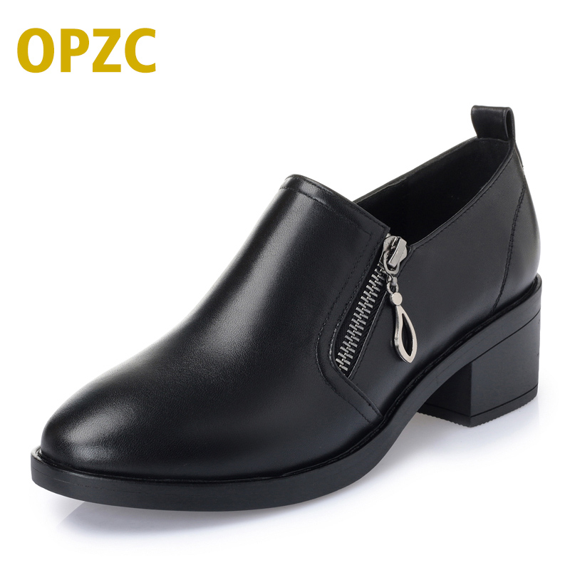 Shoes women 2018 autumn new genuine leather women shoes plus size 35-43# ladies shoes fashion business dress women's shoes aiyuqi big size 41 42 43 red women shoes platform 2018 new fashion genuine leather business dress women s shoes for wedgies