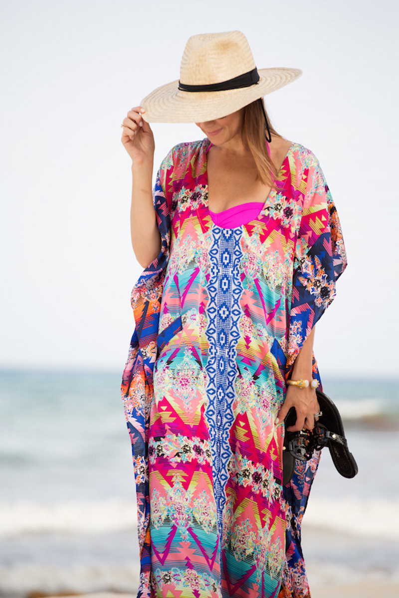 f2e018cc77f Large size athnic boho beach maxi dress 2017 print vintage summer long  dresses women clothes oversize loose straight pareos sale-in Dresses from  Women s ...