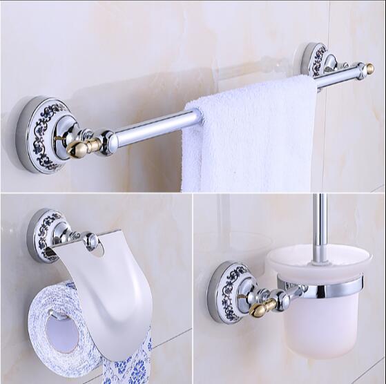 New Arrival Br Bath Hardware Set Chrome Toilet Brush Holder Paper Towel Bar Soap Basket Rack Bathroom In Sets From Home
