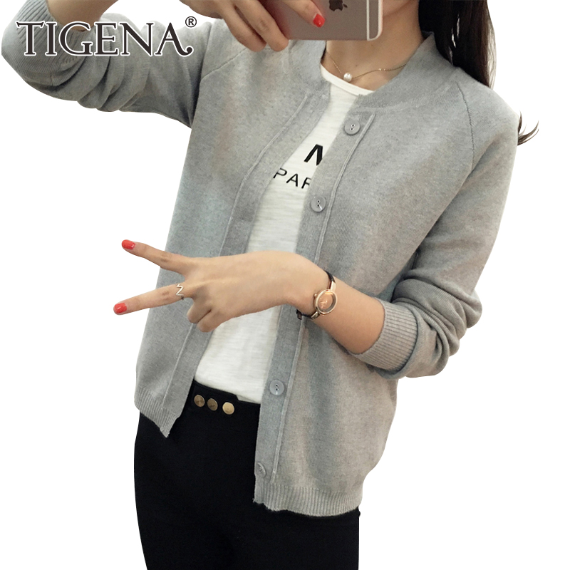 Buy Spring Autumn Women V-Neck Knitted Full Sleeve Cropped Sweaters  Cardigans Lady Knit Short Stretchy Outwear Coat Top Female - Family Store  Co. Ltd. ... 233e2dc77