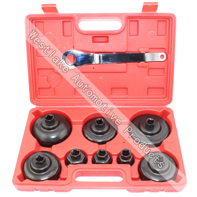 Vehicle Service Tool Oil Filter Wrench Cap Type Oil Filter Removal Tool Kit Set Tool 9pcs 27mm 32mm 36mm